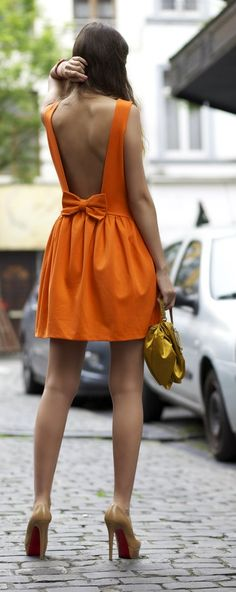 cute bow back summer dress