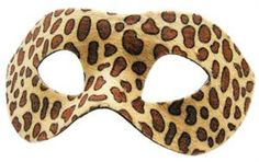 12 leopard masks with elastic cord animal by CelebrationMarket