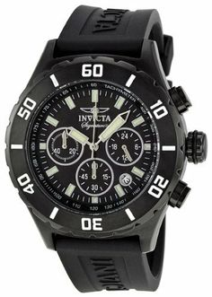 Invicta Signature II Chronograph Black Ion-plated Rubber Strap Mens Watch 7381 Invicta. $64.99. Chronograph Display. Water Resistance : 5 ATM / 50 meters / 165 feet. Black Rubber Strap. Quartz. Round Ion Plated Stainless Steel Case