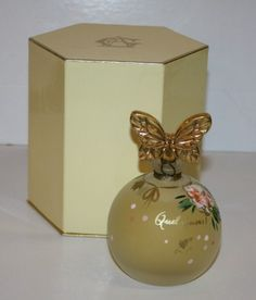 Annick Goutal perfume in hand painted bottle.