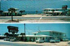 Barney Gray Beach Motel-Old Car-Panama City-Florida-Vintage Advertising Postcard Panama City Beach Florida, Panama City Panama, Florida Beaches, Vintage Florida, Old Florida, Central Florida, Beach Photos, Old Photos, Bay County