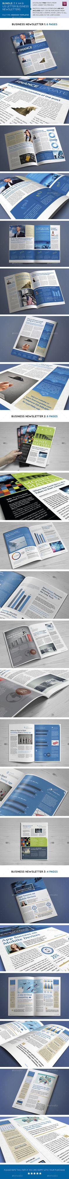 Business Newsletters Bundle Template #design Download: http://graphicriver.net/item/business-newsletters-bundle/11116581?ref=ksioks