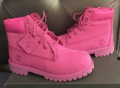 Shop Women's Timberland Pink size 7 Lace Up Boots at a discounted price at Poshmark. Description: Pink timberlands size Sold by robxn_. Pink Timbs, Pink Boots, Shoe Boots, Ankle Boots, Shoes Heels, Combat Boots, Shoes Sneakers, Cute Shoes, Fashion Shoes