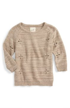 Peek 'Dylan' Crewneck Sweater (Toddler Girls, Little Girls & Big Girls) available at #Nordstrom