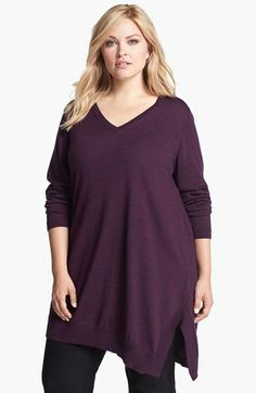 Eileen Fisher Asymmetrical Sweater Tunic (Plus Size) available at #Nordstrom