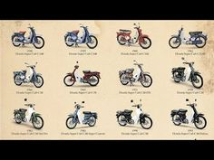 The Honda Super Cub is a Honda underbone motorcycle with a four stroke single cylinder engine ranging in displacement from 49 to 124 cc to cu in). Honda Cub, Motorcycle Engine, Honda Motorcycles, Motor Car, Motorbikes, Cubs, History, Bridges, Youtube