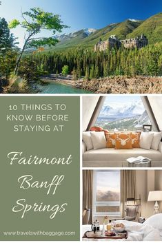 Everything you need to know before staying in Canada's most iconic Rocky Mountain hotel: Fairmont Banff Springs. #Canada #Banff #rockies #luxuryhotel #rockymountain