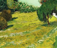Garden with Weeping Willow, 1888, Vincent van Gogh Size: 73.5x60.5 cm Medium: oil on canvas