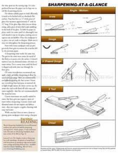 #1975 Sharpening Wood Carving Tools - Sharpening Wood Carving
