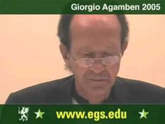 Giorgio Agamben, Italian professor and philosopher, presenting the text What is a Dispositive?  Free public open video philosophy and politics lecture for the students and faculty of the European Graduate School EGS, Media and Communication Studies department program, Saas-Fee, Switzerland, Europe, 2005, Giorgio Agamben.