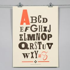 Image of Alphabet: Mixed Type | Baltimore Print Studios