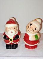 "Santa & Mrs. Claus Salt & Pepper 3.5"" Decorative Holiday Shakers"