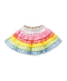 Look at this Oilily Pink Rainbow Sissi Skirt - Infant, Toddler Girls by Oilily Baby Girl Skirts, Little Girl Dresses, Girls Dresses, Sissi, My Little Girl, My Baby Girl, Frill Skirts, Designer Kids Clothes, Girls Boutique