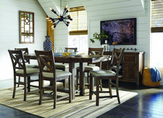 blue gray dining room blue gray dining room blue dining room ideas bunch ideas of blue.gray and brown dining room gray extendable counter height dining room set dark… Pub Table Sets, Dining Room Sets, Dining Room Design, Dining Room Table, Dining Chairs, Kitchen Dining, Bar Tables, Kitchen Redo, Side Chairs