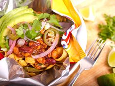 Vegan Frito Pie.  Tasty and even the young kids liked it -- with the addition of sour cream, a staple in our household.