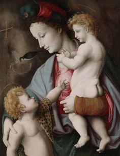 Francesco Ubertini, Madonna and Child with St. John, 1525, Dallas Museum of Art, Texas