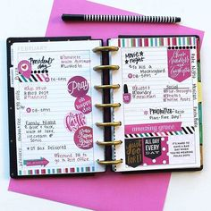 """A look at last week in mambi Design Team member @katietheplanner's MINI 'Super Fun' Happy Planner®. . . About it, Katie writes: """"The 'Faith' sticker value pack is my favorite, but I recently realized I've been hoarding the stickers. In the last few months, I've used less than five of them! When I noticed this, I challenged myself to use it as the basis for this weekly layout. I started decorating with quotes and washi strip stickers from the pack, and the cascading circles on the side are…"""