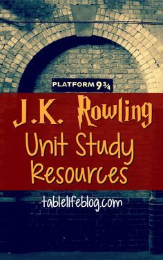 My kids are obsessed with Harry potter and want to learn all they can about the author who created him. Rowling Unit Study came to be. Harry Potter Classes, Harry Potter Activities, Harry Potter School, Harry Potter Classroom, Theme Harry Potter, Book Activities, Author Studies, Unit Studies, Classe Harry Potter
