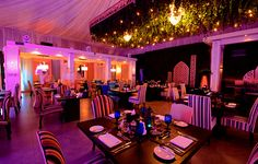 Inspired by the beautiful gardens of The Ritz-Carlton, Bahrain, Al Khayma Ramadan Tent is decorated by with hanging plants, creating a unique ambiance to accompany the breaking of the fast.