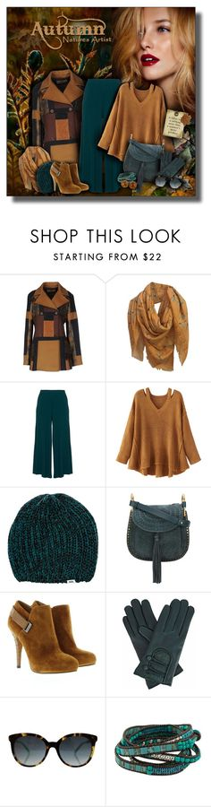 """""""Autumn's Teal & Cognac  Artistry"""" by helenehrenhofer ❤ liked on Polyvore featuring Etro, Alexander McQueen, Peter Luft, WithChic, Vans, Chloé, GUESS, Gizelle Renee, Gucci and NOVICA"""