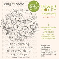 Magnolia Sunshine Digital Stamp Set | Power Poppy by Marcella Hawley