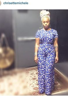 Chrisette Michele in a cute jumpsuit