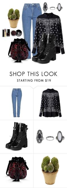 """""""Untitled #463"""" by kat-lawless on Polyvore featuring Topshop, yeswalker, Alberta Ferretti, Chanel and Nearly Natural"""