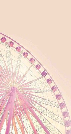 Small fresh pink background Ferris wheel