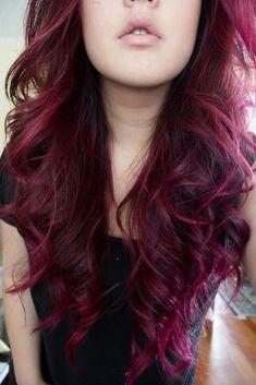 Red violet hair color