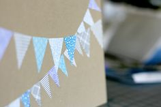 Cards decorated with security envelope prints