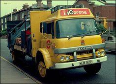 Corona delivery lorry - lemonade corona pop was made in Merthyr Tydfil my home - Before After DIY 1970s Childhood, My Childhood Memories, Sweet Memories, Bedford Truck, Old Lorries, Commercial Vehicle, Vintage Trucks, Classic Trucks, Classic Cars