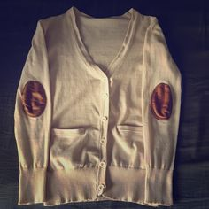 Cardigan with Elbow Patches This adorable sweater is super chic! Who cares if you can't ride a horse because you will look fabulous! Worn only once. Sweaters Cardigans