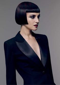 when boys and girls blend sartorial codes a decadent disruption takes place. The new collection from Sassoon Academy, plays with gender and. Roman Hair, Short Bob Styles, Bob Haircut With Bangs, Bob Bangs, Short Bob Hairstyles, Black Hairstyles, Weave Hairstyles, Hair Art, Cut And Color
