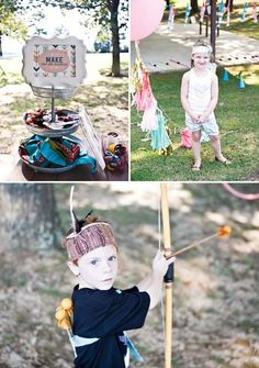 make your own feather headdress party craft