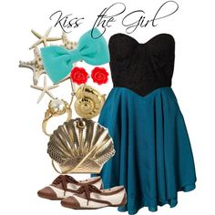 Disneyland in May: Disneybound Kiss the Girl - Ariel. I cannot believe how much these look like the characters!