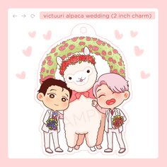 """alktomycin: """" [reblogs appreciated] opening pre-orders for victuri wedding charms, available until end of january! ✨applefloat.tictail.com✨ and if you're wondering why the alpaca EDIT: changed the design just a bit """""""