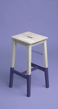 Need a subtle yet interesting way to incorporate the #Pantone2018 color of the year? A little chalk paint goes a long way in transforming a farmhouse style kitchen stool into a work of #ultraviolet art. Believe us, purple is about to be a huge trend in 2018.