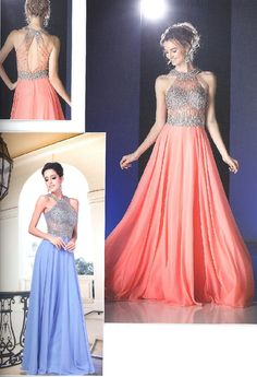 Prom Dresses Evening Dresses<BR>add8743<BR>Illusion halter neckline with beaded necklace, bodice and waist line