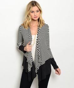 Striped Beauty Cardigan- Spring Summer Fall Winter Fashion www.psiloveyoumoreboutique.com
