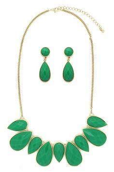 Emerald My Neck Necklace  Earrings Set by Eye Candy Los Angeles on @HauteLook ($15)