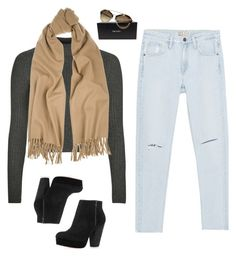 """booties, camel scarf, prada shades"" by kennedydrm9 ❤ liked on Polyvore featuring Topshop, Zara, Acne Studios, Prada, women's clothing, women's fashion, women, female, woman and misses"