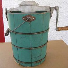 Vintage ice cream maker - My dad used this every year to make ice cream for my birthday!