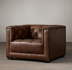 Savoy Leather Chair - lounge seating ideas
