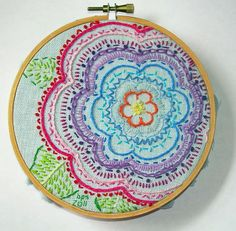 Embroidery - Flower by Sew In Stitches is Becky, via Flickr
