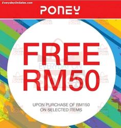 7 Jan 2015: Poney Malaysia FREE RM50 worth of Clothes Giveaway Promotion