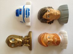 Star Wars mini heads from inside the Star Wars ball with candy surprise
