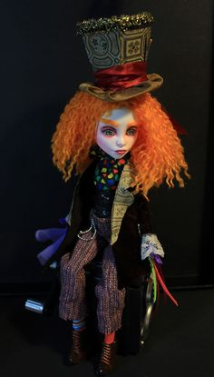"""Mad Hatter Fantasy OOAK Spectra Monster High Doll Repaint by Refabrications 