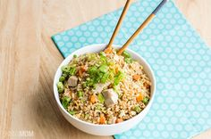 We just made the chicken from this recipe and added it to our WW fried quinoa recipe. SO GOOD!