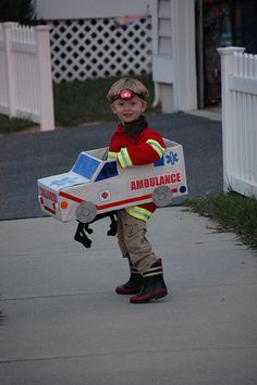 Ambulance Costume   My son wanted to be an ambulance... so w…   Flickr