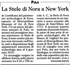Stele di Nora a New York